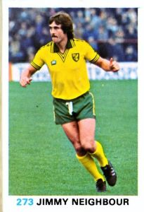 RED BACK 1977 JIMMY NEIGHBOUR -#186- NORWICH TOPPS-FOOTBALL